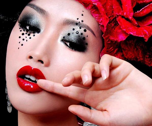 时尚化妆作品