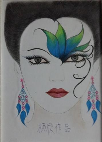 学生纸妆作品