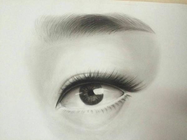 美妆素描作品